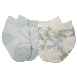 Jefferies Camo Blue Baby Socks - 2 Pair Pack