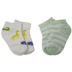 Jefferies Safari Apple Baby Booties - 2 Pair