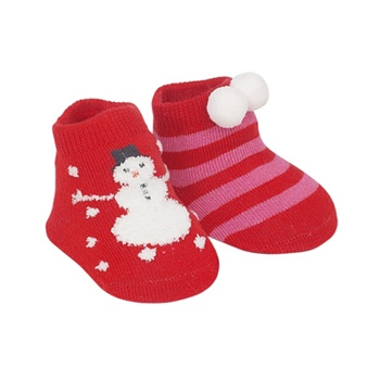 Sweet Feet 727 My First Christmas Multi Baby Shoe Socks