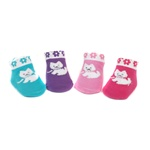 Sweet Feet 739 Fluffy Westie Multi Baby Shoe Socks