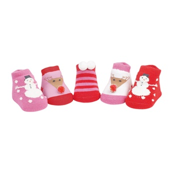 Sweet Feet 741 Winter Wonderland Multi Baby Shoe Socks