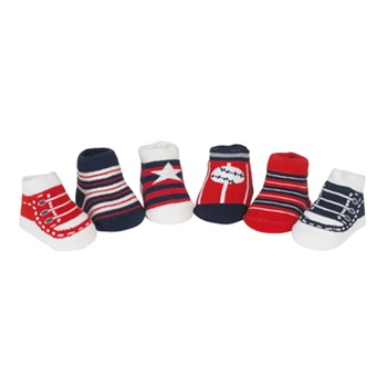 Sweet Feet Independence Day Assorted Baby Shoe Socks - 6 Pair