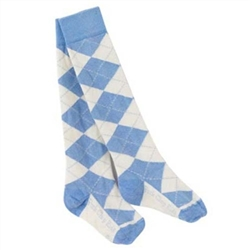 Pork Chop Kids Argyle Thigh High Girls Socks - 1 Pair