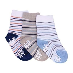 TicTacToe Horizontal Stripes Boys Socks - 3 Pair