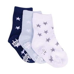 TicTacToe Little Star Boys Socks - 3 Pair