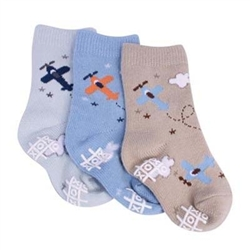 TicTacToe High Flyin Boys Socks - 3 Pair