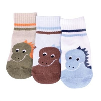 TicTacToe Dino Baby Boys Socks - 3 Pair