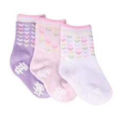 TicTacToe Little Hearts Girls Socks - 3 Pair