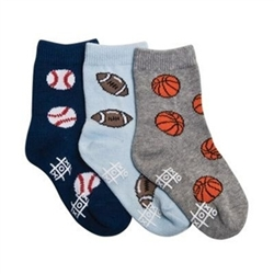TicTacToe Pee Wee Sports Boys Socks - 3 Pair
