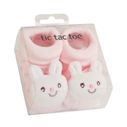 TicTacToe 3-D Bunny Girls Shoe Socks - 1 Pair