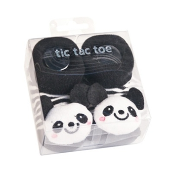 TicTacToe 3-D Panda Baby Shoe Socks - 1 Pair