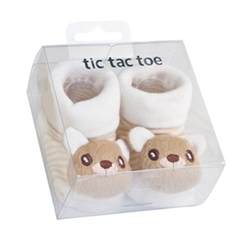 TicTacToe 3-D Bear Boys Shoe Socks - 1 Pair