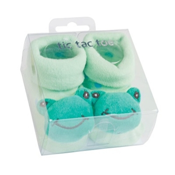 TicTacToe 3-D Frog Boys Shoe Socks - 1 Pair