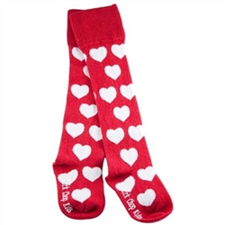 Pork Chop Kids Hearts Thigh High Girls Socks - 1 Pair