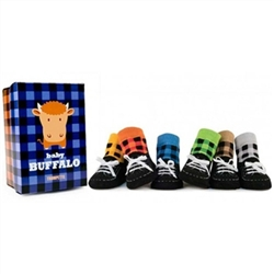 Trumpette Buffalo Baby Socks - 6 Pair