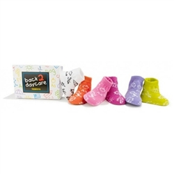 Trumpette Back to DayCare Baby Girls Socks - 6 Pair