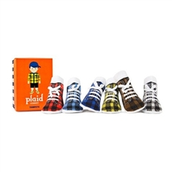Trumpette Johnny Plaid Baby Socks - 6 Pair