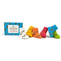 Trumpette Wonderful World Baby Shoe Socks - Monkeys - 6 Pair