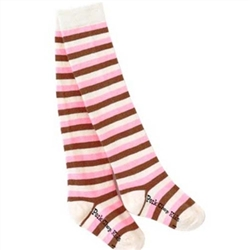 Pork Chop Kids Neapolitan Stripe Thigh High Girls Socks - 1 Pair