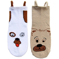 """I Can Do It!"" Socks by EZ SOX - Cuddly Animals Seamless Socks for Boys & Girls, with Loop Technology - 2 Pack"