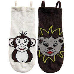 """I Can Do It!"" Socks by EZ SOX - Zoo Pack Seamless Socks for Boys & Girls, with Loop Technology"
