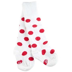 Pork Chop Kids Red Dot Thigh High Girls Socks - 1 Pair