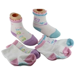 Skechers Fashion Crew Baby Girls Socks - 4 Pair