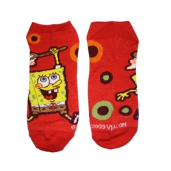 SpongeBob Circles Red Socks - 1 Pair