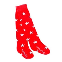 Pork Chop Kids Stars Thigh High Girls Socks - 1 Pair
