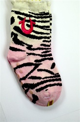 True Religion Animal Crew Baby Girls Socks - 2 Pair