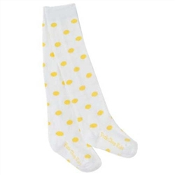 Pork Chop Kids Yellow Dot Thigh High Girls Socks - 1 Pair
