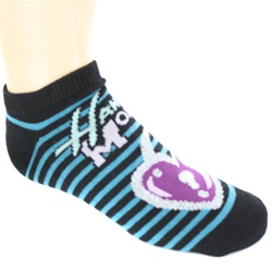 Hannah Montana Lock Black Girls Socks - 1 Pair
