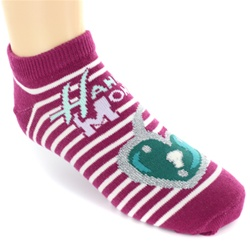 Hannah Montana Lock Fuschia Girls Socks - 1 Pair