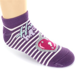 Hannah Montana Lock Purple Girls Socks - 1 Pair
