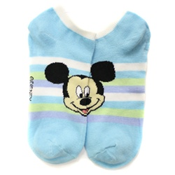 Mickey Mouse Stripes Baby Blue Socks - 1 Pair