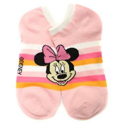 Minnie Mouse Stripes Pink Socks - 1 Pair