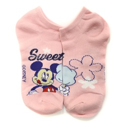 Mickey Mouse Sweet Pink Socks - 1 Pair
