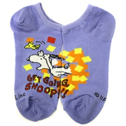 Peanuts Get Going Blue Boys and Girls Socks - 1 Pair