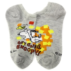 Peanuts Get Going Grey Boys and Girls Socks - 1 Pair