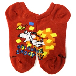 Peanuts Get Going Red Boys and Girls Socks - 1 Pair