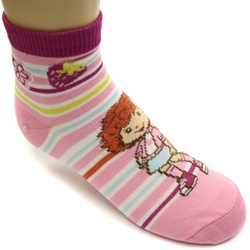 Strawberry Shortcake Stripes Pink Girls Socks - 1 Pair