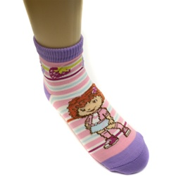 Strawberry Shortcake Stripes Purple Girls Socks - 1 Pair