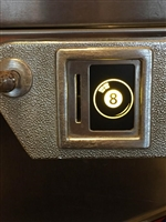 Eight ball designed Price Plate for Bally Coin Door