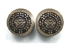 "Pair of ""Aztec Moon"" Organic Plugs"
