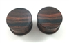 Pair of Concave Brown Sono Solid Plugs