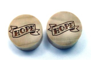 "Pair of ""Hope"" Organic Plugs"