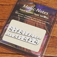 Music Notes - Pinball Flipper Bat Topper MOD (Set of 2)