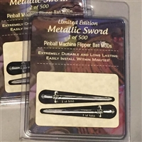 Metallic Swords - Limited Edition - Pinball Flipper Bat Topper MOD (set of 2)