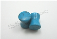 PAIR of Organic Natural Turquoise Stone Plugs