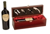 Rosewood Finish Single Wine Box with Tools